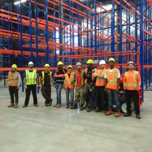 pallet installation crew