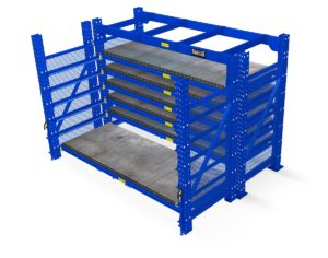 ROll Out Sheet Rack for storage of sheet metal