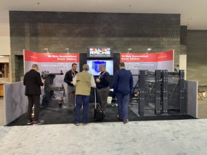 Roll-Out Racks Trade Show Booth