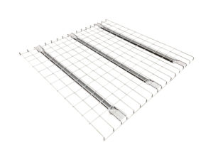 Wire mesh deck for pallet racking